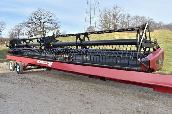 "2014 MacDon FD-75S 35' Flex Draper Head, CIH Hookups, 3"" Cut, Single PTO, SN: 253729"
