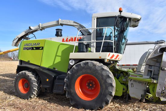 "2006 Claas 870 Jaguar 4WD Forage Harvestor Speedstar ""Green Eye"", 3704 Engine Hours, 3186 Cutter Hea"