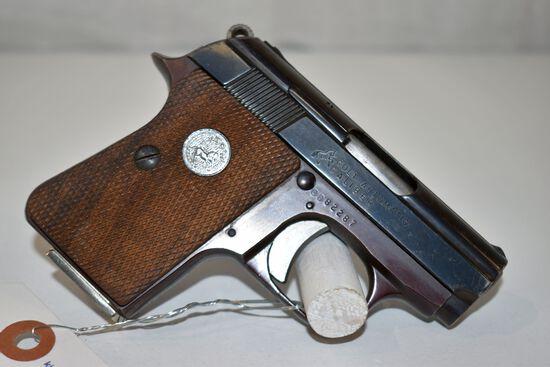 Colt 25 Auto Cal, semi auto pistol, SN: 0D82287, one magazine