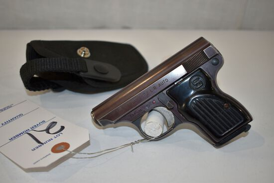 Sterling 22 Cal LR Semi Auto Pistol, SN: A03588, With Holster