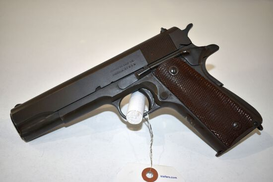 Remington 1911 A1 US Army, 45 Cal. Semi Auto Pistol, one magazine, good bore, stamped United States