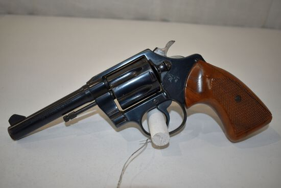 Colt Police Positive Special, 38 Special Cal, 6 Shot Revolver, wooden grips on left hand side are cr