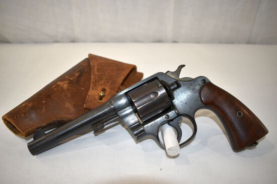Colt 1917 US Army Issue Colt DA 45 Cal Revolver, 6 Shot, SN: 152162 With leather US holster