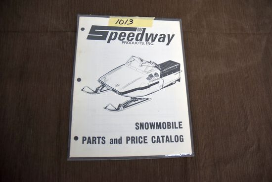 Original Speedway Snowmobile Parts and Price Catalog