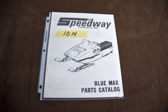 Speedway Products Blue Max Parts Catalog, this is a photo copy of an original