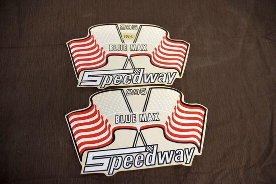 Speedway 295 Blue Max Decals Pair