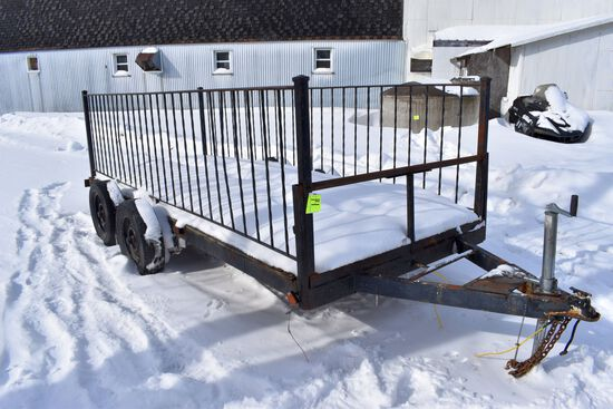 Shop Built Utility Trailer, Tandem Axle, 14' Long, Selling With NO TITLE