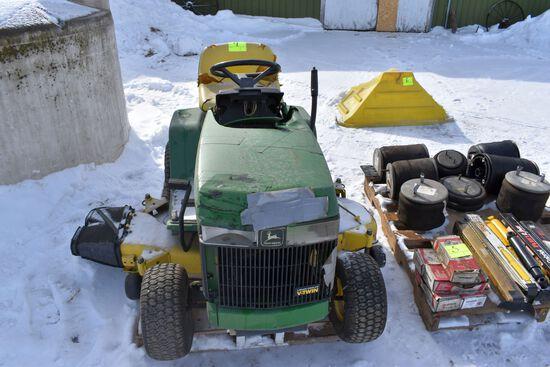 John Deere LX178 Lawn Mower, Liquid Cooled V-Twin Engine, cracked hood