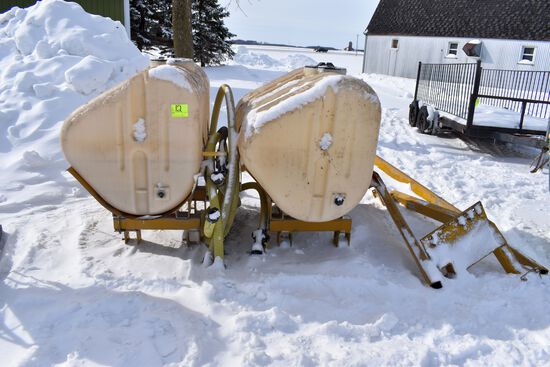 Ag Chem 240/480 Gallon Saddle Tanks With Brackets and Hose