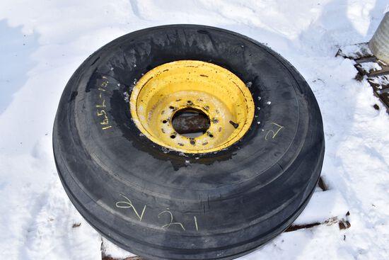 16.5x16.1 Implement Tire On 8 Bolt Rim