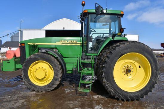 2000 John Deere 8210 MFWD Tractor, 7409 Actual Hours