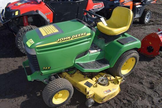 """John Deere 345 Garden Tractor, 53"""" Mower Deck, 201"""