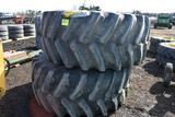 (2) Firestone 800/70R38 Tractor Tires On 12 Bolt