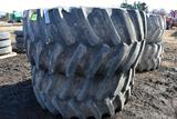 (2) Firestone 800/70R38 Tractor Tires On 10 Bolt