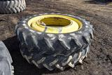 (2) Goodyear 380/90R50 Tractor Tires On 12 Bolt