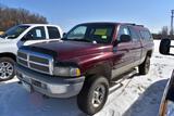 2000 Dodge 1500 Ram Pickup, 4x4, Auto, V8 Gas, 22