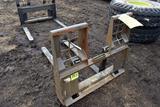New/Unused 5000lbs Walk Thru Pallet Forks, 48