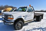 1996 Ford F350 Flatbed Pickup, Reg Cab, Dually, 4