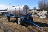 1000 Gallon Poly Tender Tank, Running Gear, 2