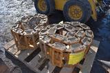 Steel Tracks For Skid Loader Fit 12x16.5 Tires