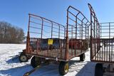 8'x16' Bale Throw Wagon With New Holland Running