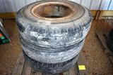 Three 10.00x20 Truck Tires on Dayton Rims, Good Tires, selling all for one money