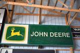 Single Sided John Deere Dealer Implement Sign, Plastic Insert, Lighted, 64