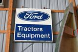 Single Sided Tin Ford Tractors Equipment Dealer Sign, 48