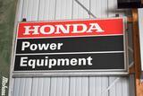 Single Sided Lighted Hanging Honda Power Equipment Dealer Sign, Needs New Bulbs, 48