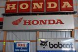 Single Sided Lighted Honda Dealer Sign, Plastic Insert, 40