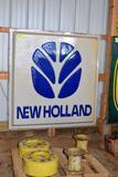 Single Sided Plastic Insert New Holland Dealer Sign, 72