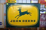 Original Single Sided John Deere 4 Legged Tin Sign, 69