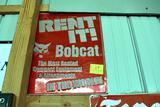 Single Sided Tin Bobcat sign, embossed
