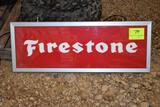 Lighted Single Sided Firestone Tires Sign, 14