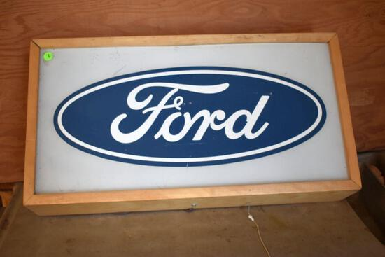 Ford Custom Built Lighted Sign