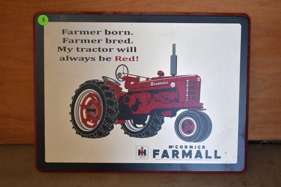 Poly Farmall Sign 16 1/2 x 11 1/2