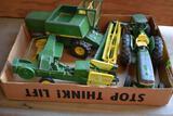 John Deere Tractors, Combine, & Haying Equipment 1/16 Scale, may have some damage