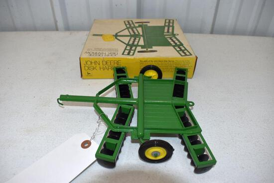 Original Ice Cream Box Ertl John Deere Disk Harrow, Box in good condition with some wear