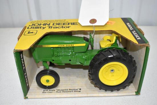 Ertl Blue Print Replica John Deere Utility Tractor 1/16 scale with box