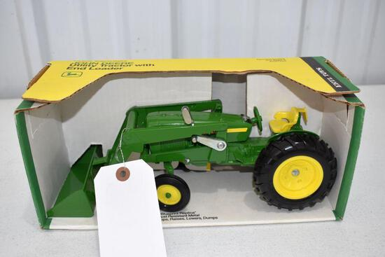 Ertl Blue Print Replica John Deere Utility Tractor with End Loader 1/16 scale with box