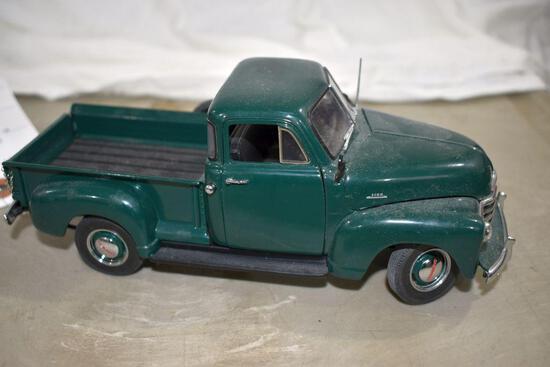 Danbury Mint 1953 Chevy Pickup, Wheel needs reglueing, no box