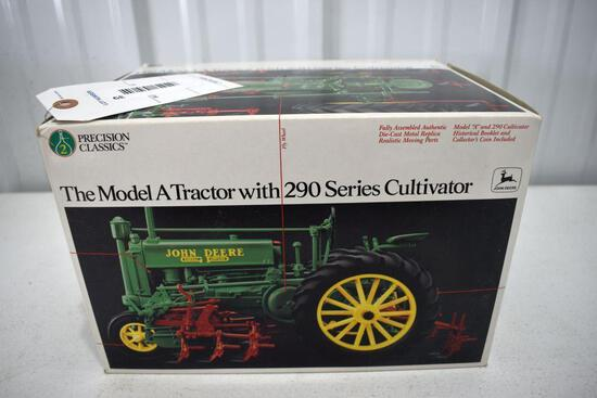 Precision Classics 2 John Deere A Tractor with 290 Cultivator and box