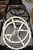 4 Assorted Steering Wheels