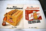 2 Cardboard Grain Belt and Havenstien Beer Advertising