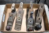 (4) Assorted Planes with One Stanley Rib, 3 Smooth Bottom