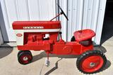 Restored Original Two Hole Farmall 560 Pedal Tractor, Shifter, Metal Steering Wheel & Seat