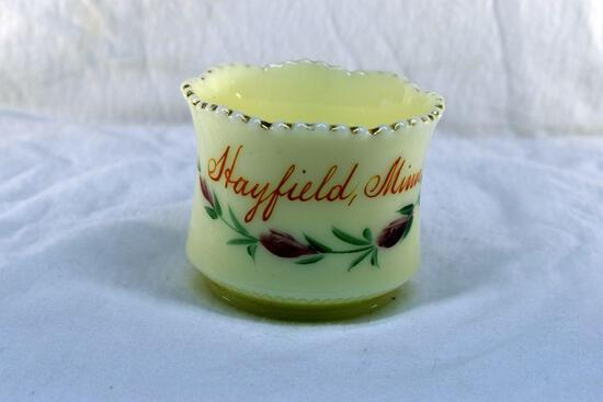 Custard glass from Hayfield MN