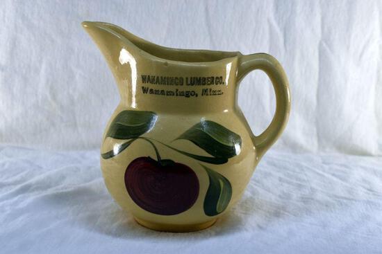 Watt Ware Pottery Pitcher from Wanamingo Lumber, Wanamingo MN