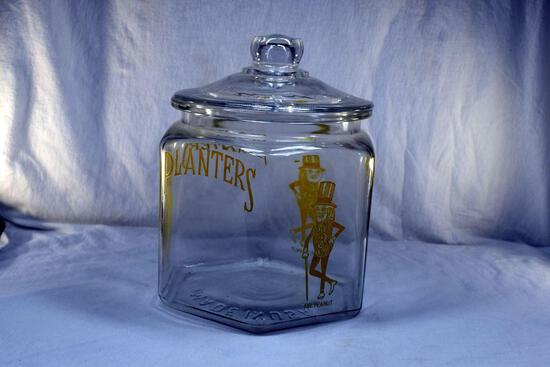 Planters Peanuts jar with cover