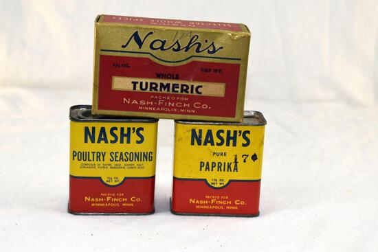 Nash spice tins one with original box